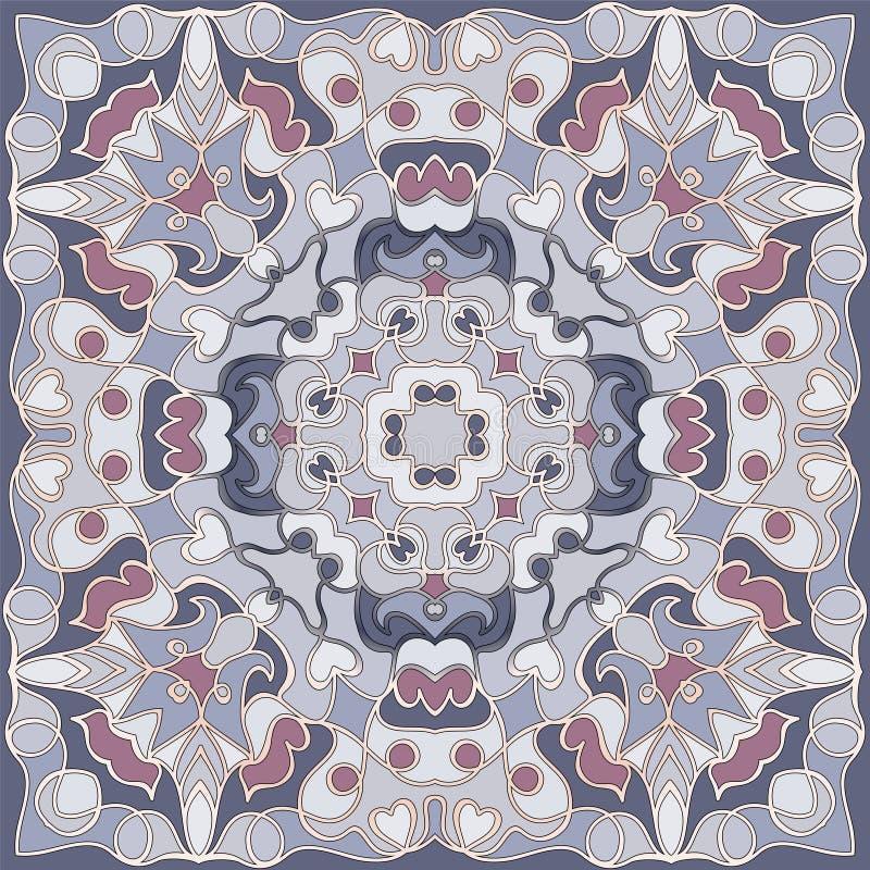 方形的几何样式 库存例证