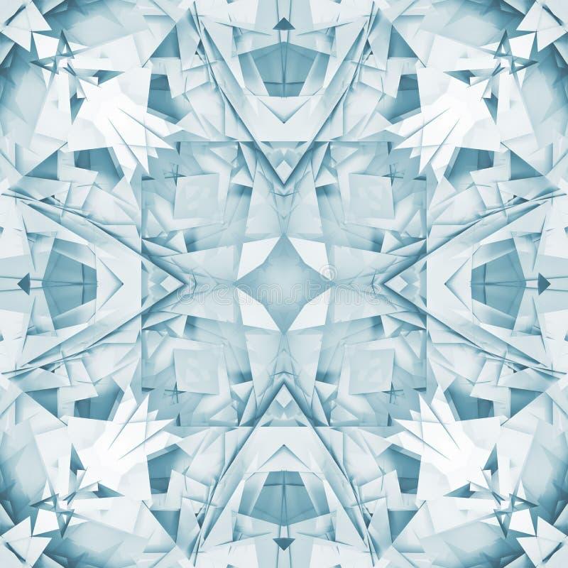 方形的数字式几何3d万花筒样式 向量例证