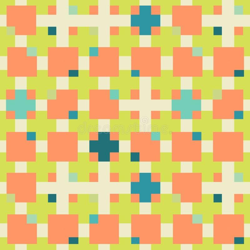 方形的无缝的几何样式 皇族释放例证