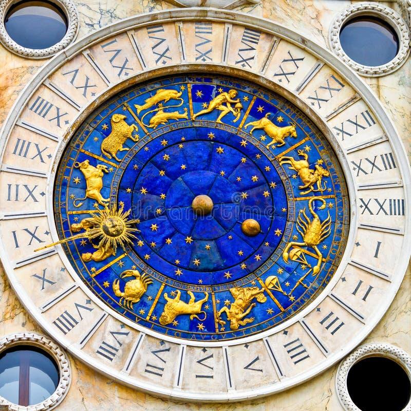 方形的时钟威尼斯 免版税图库摄影