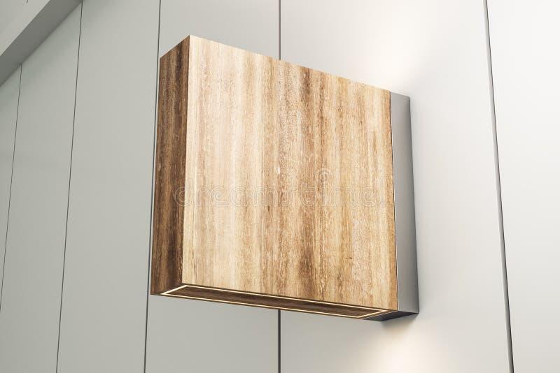 方形的木停止者 向量例证