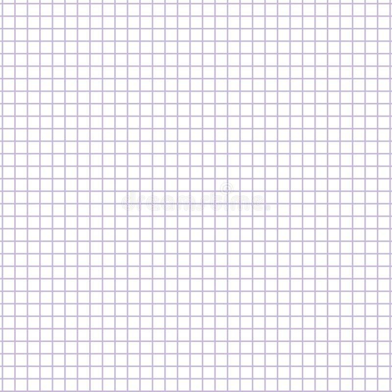 方形的栅格纸板料 无缝的便条纸例证 库存例证