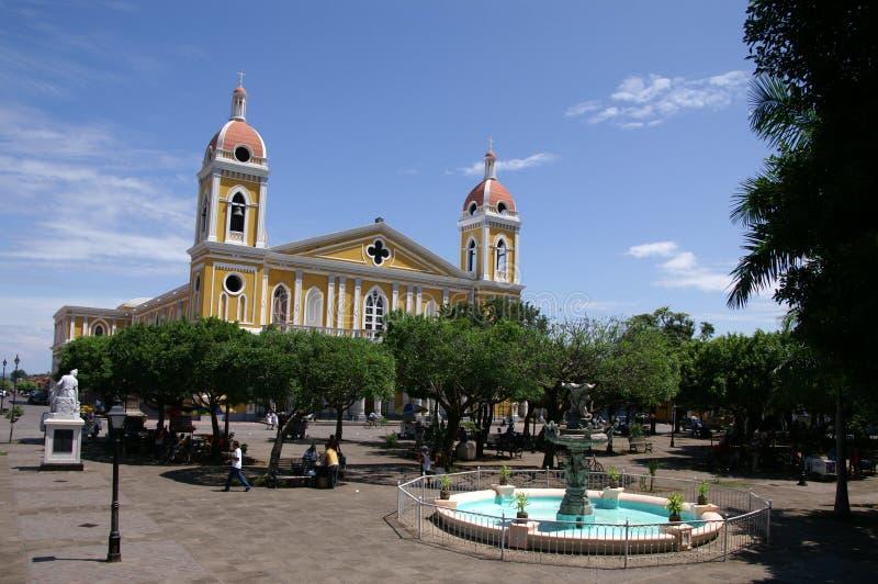 方形的格拉纳达尼加拉瓜 库存图片