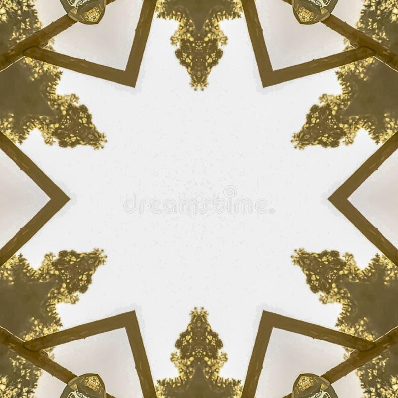 方形的框架婚礼装饰把变成设计元素 皇族释放例证