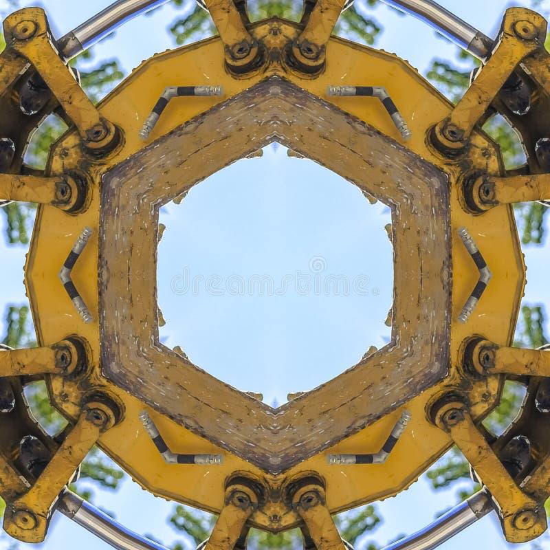 方形的框架通报几何形状由拖拉机做了 向量例证