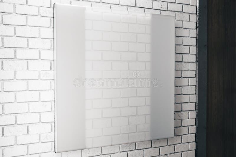 方形的白色玻璃板 库存例证