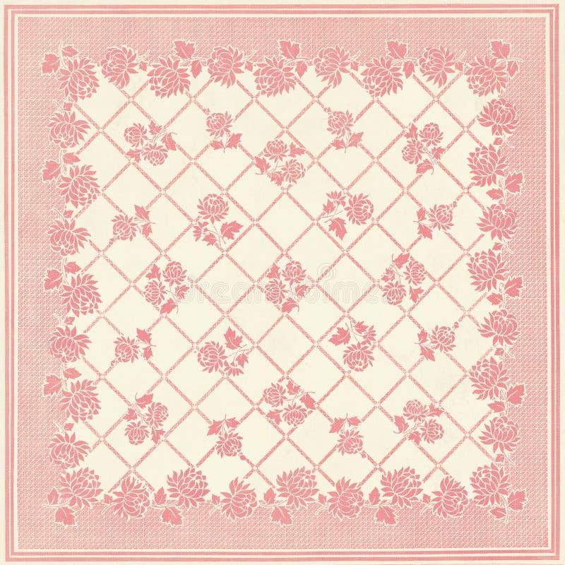 方形的补缀品花卉墙纸设计 免版税库存照片