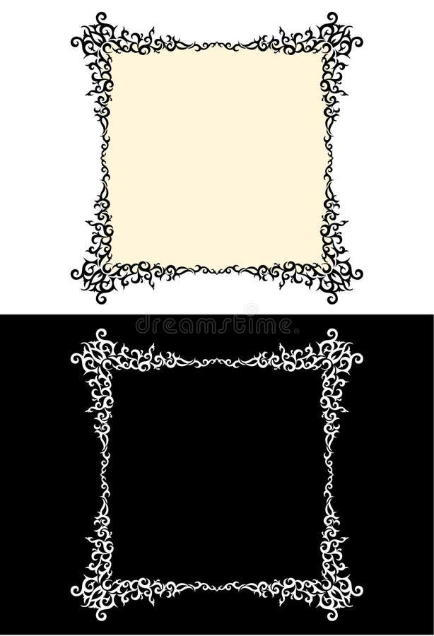 方形的装饰框架 库存例证