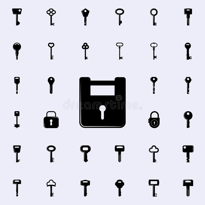 方形的锁象 锁和钥匙象全集网和机动性的 皇族释放例证