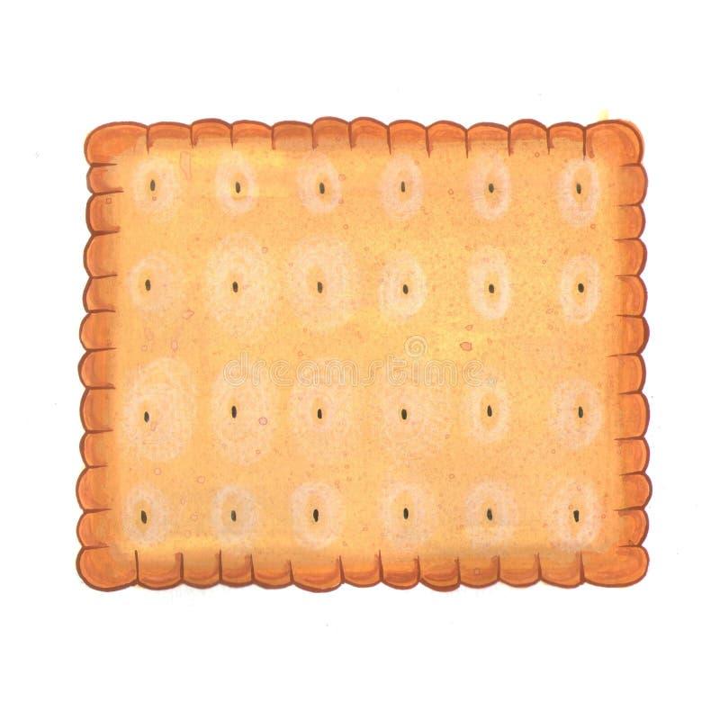 方形的饼干例证 免版税图库摄影