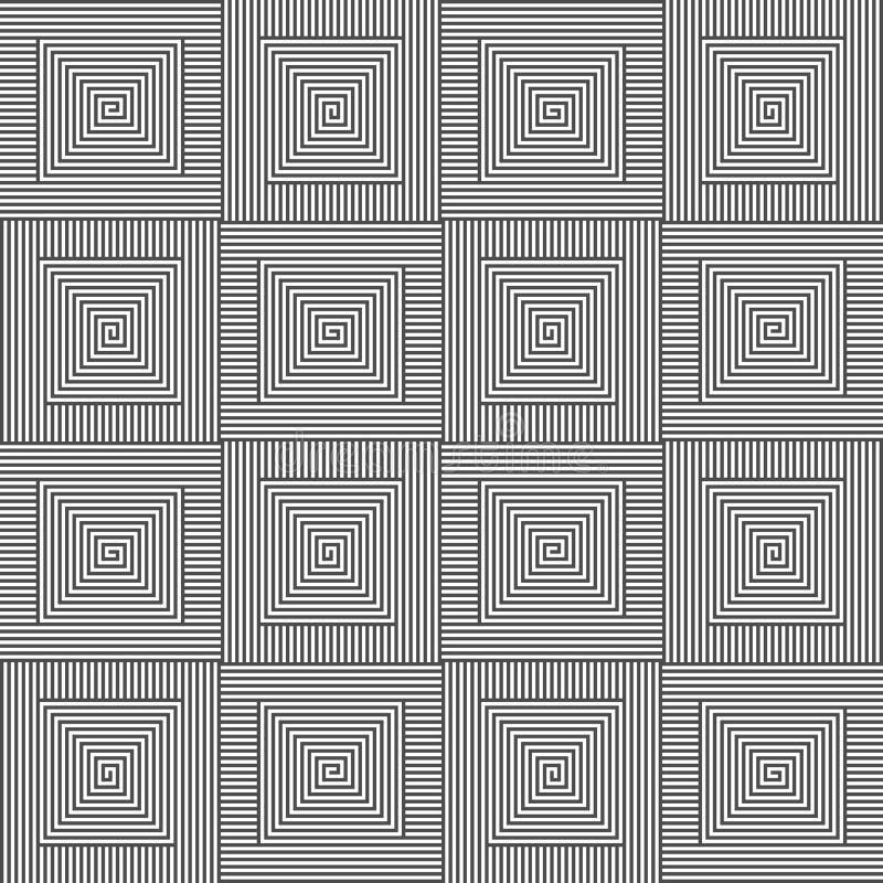 方形的黑&白色样式 皇族释放例证