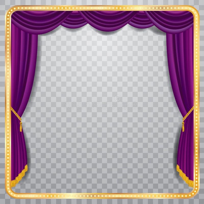 方形的紫色阶段 皇族释放例证