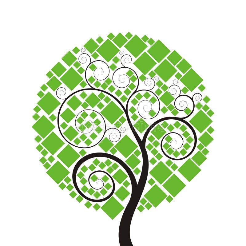 方形结构树 向量例证