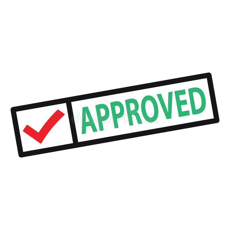 方格批准的印章,带有红色复选标记……方格批准的印章,带有红色复选标记。红色复选标记向量e 向量例证