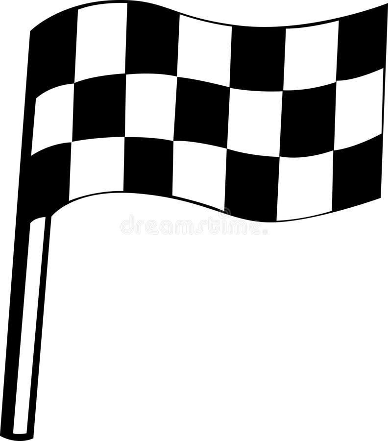 方格标志赛跑 皇族释放例证