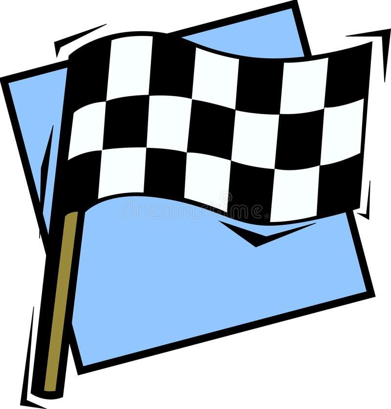 方格标志赛跑 向量例证