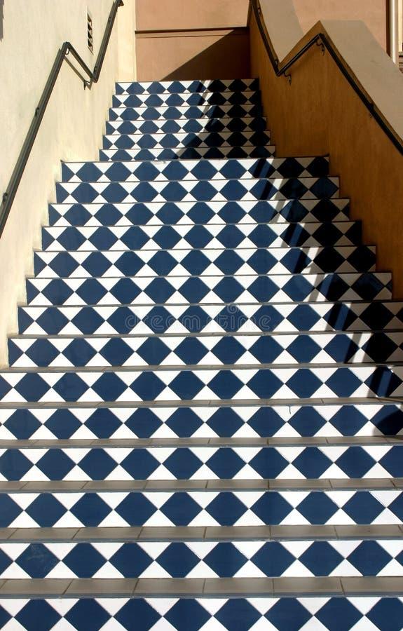 方格的台阶 免版税库存照片