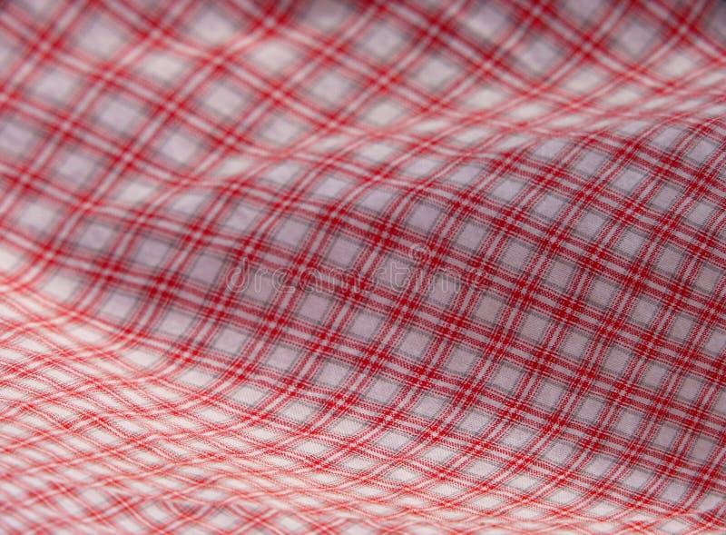 方格的布料野餐红色 图库摄影