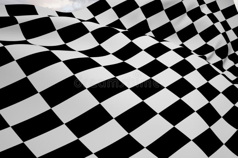 方格的旗子的综合图象 向量例证