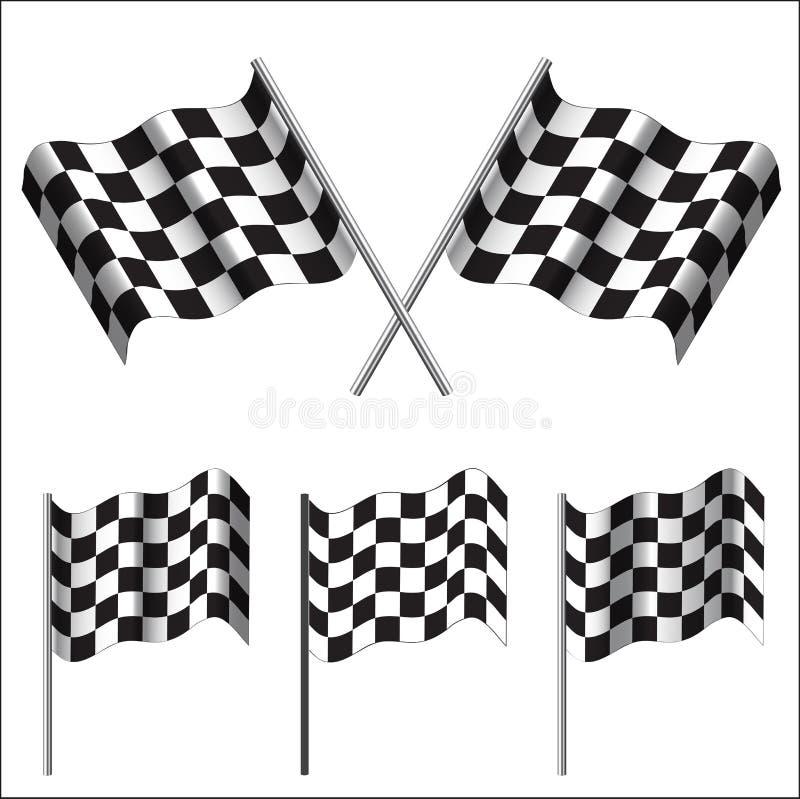 方格的旗子(赛跑)。传染媒介 向量例证