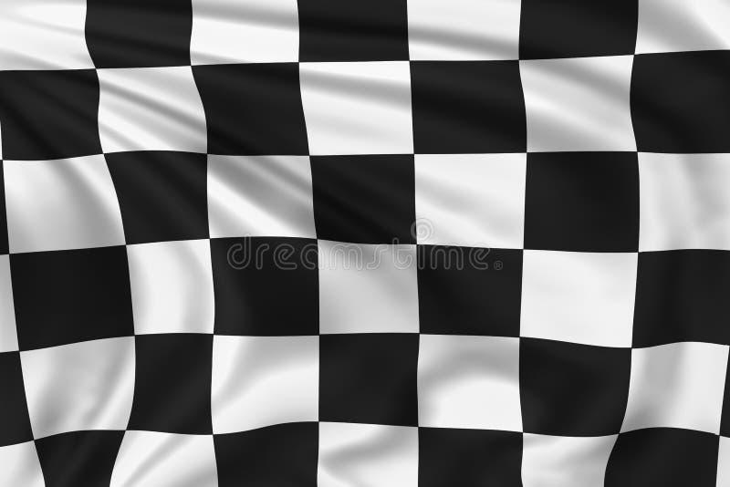 方格的旗子 库存例证