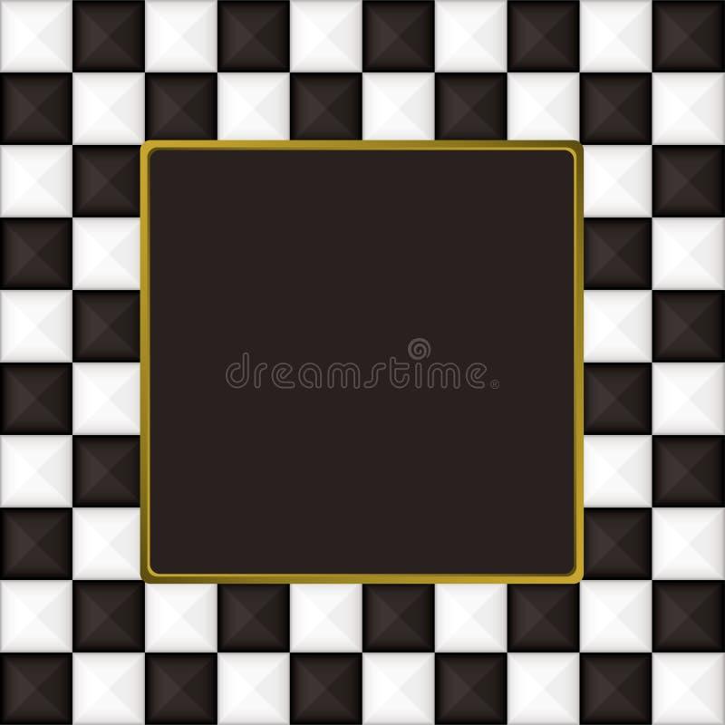 方格的框架照片正方形 皇族释放例证