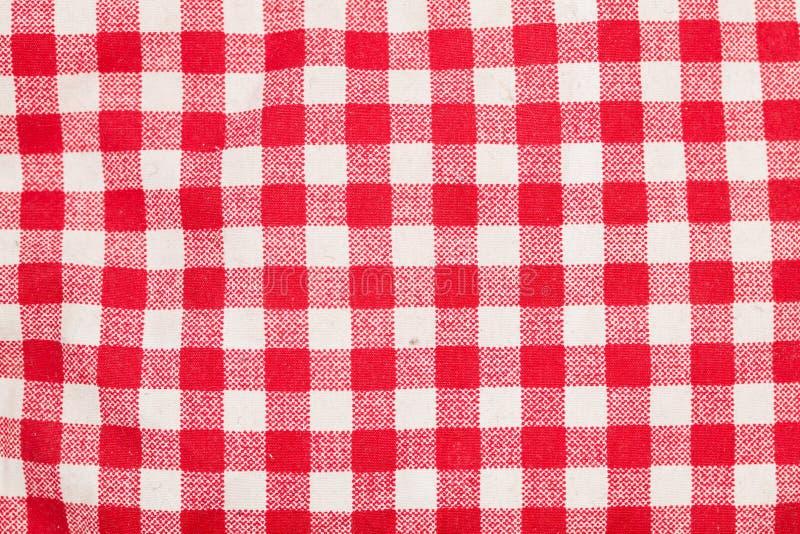 方格的红色表白色 免版税库存照片