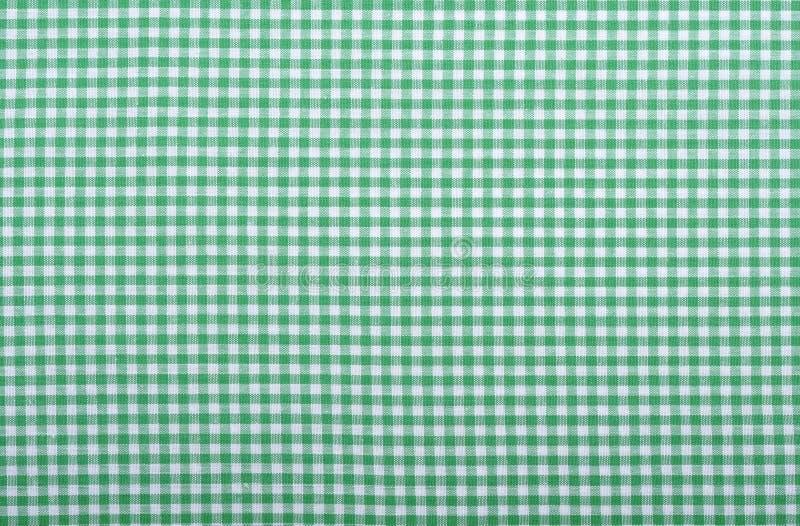 方格的绿色织品 图库摄影
