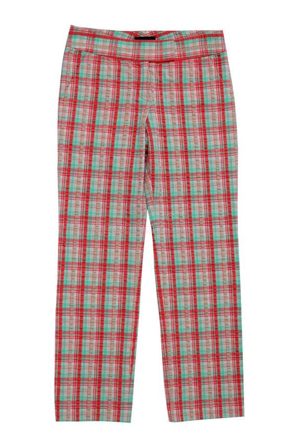 方格的裤子, trews 免版税库存照片