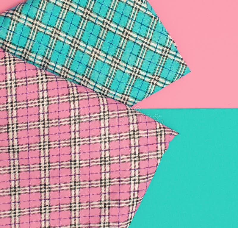 方格的织品集合 香草颜色 免版税图库摄影