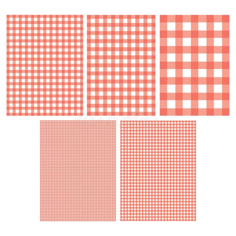 方格花布样式 向量例证