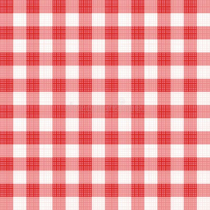 方格花布模式红色重复 库存例证