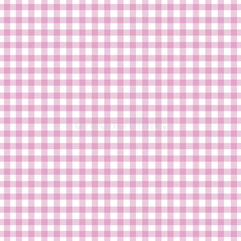 方格花布粉红色 免版税库存照片