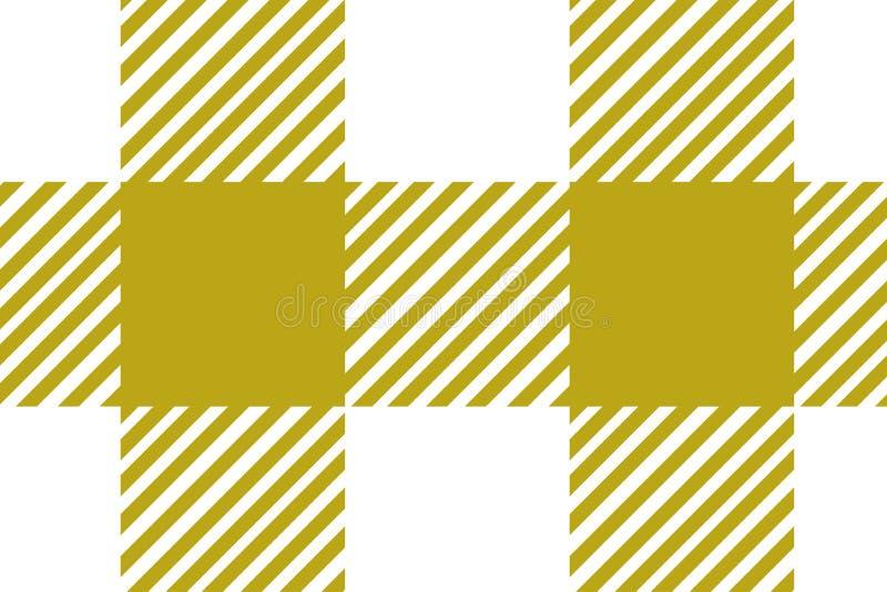 方格花布黄色样式 从菱形/正方形的纹理-格子花呢披肩、桌布、衣裳、衬衣、礼服、纸和其他纺织品的 库存例证