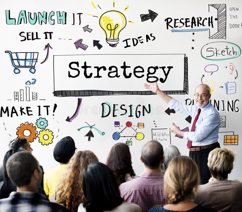 方法战略企业工作流进展概念 免版税库存照片