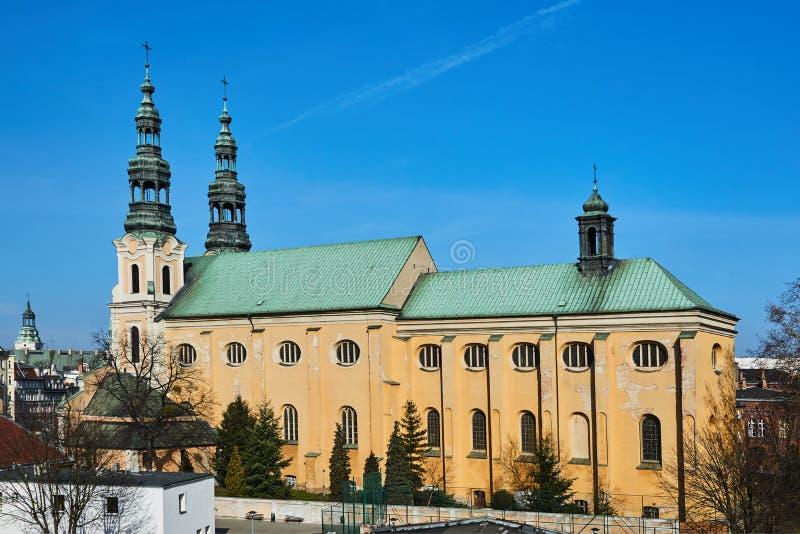 方济会命令的巴洛克式的教会 免版税库存图片