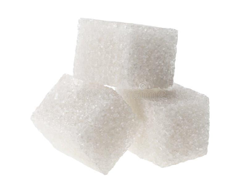 方糖白色 库存照片