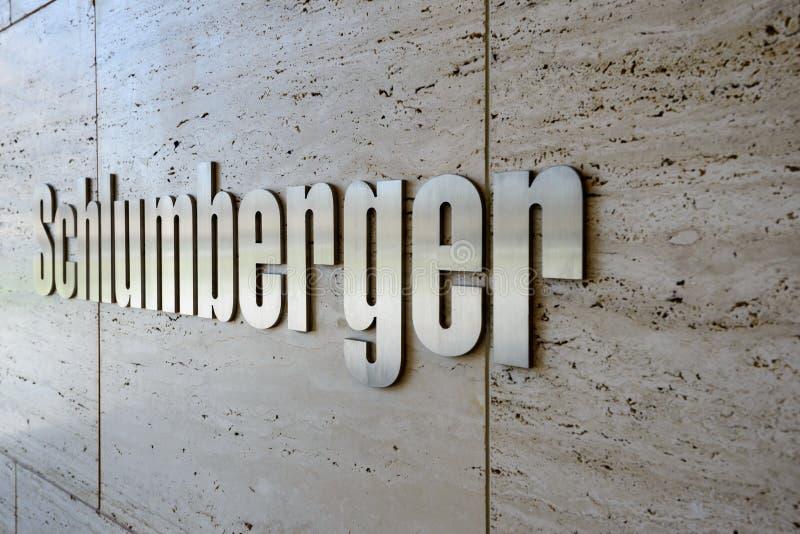 施伦贝格尔- compan最大的国际油田的服务 库存图片
