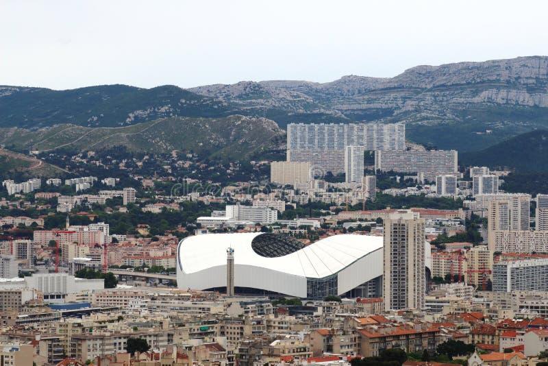 施塔德县Vélodrome在马赛市,法国 库存照片