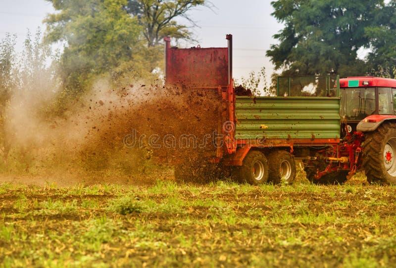 施肥领域 免版税图库摄影