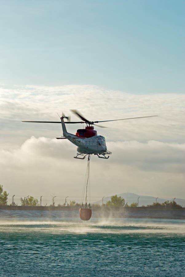 旅团火直升机 库存照片