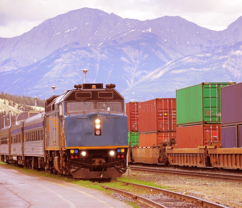 旅客列车。 图库摄影
