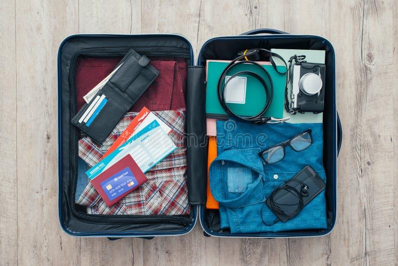 旅客的袋子 库存图片