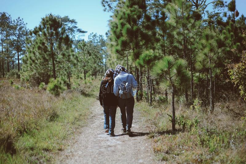 旅客自然教育自然旅游业视图看法  免版税库存照片