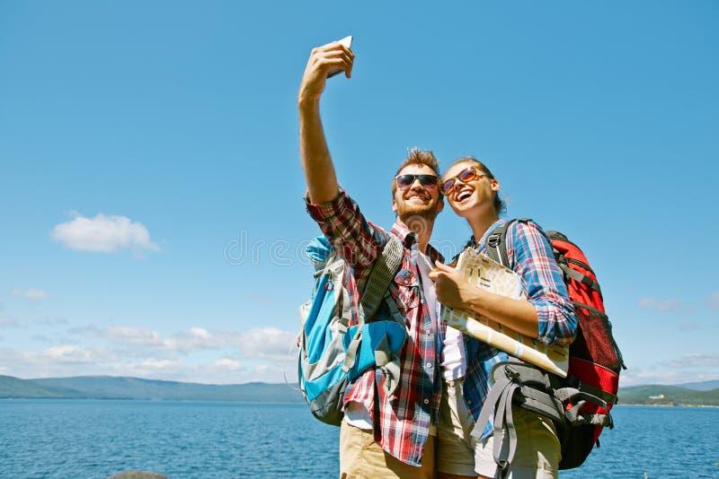 旅客Selfie  库存图片