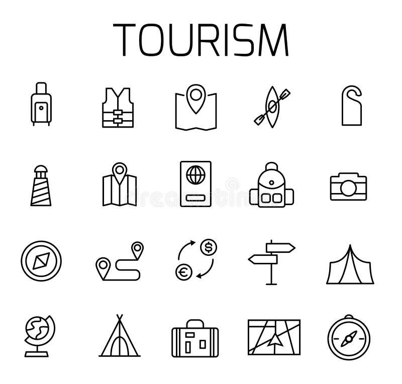 旅游业关系了传染媒介象集合 库存例证