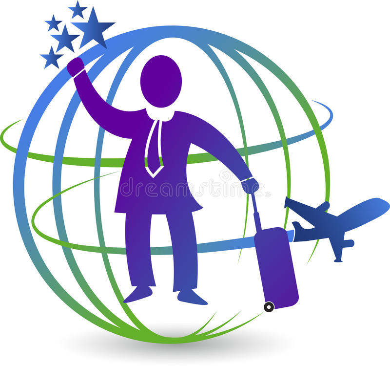 旅游业商标 库存例证