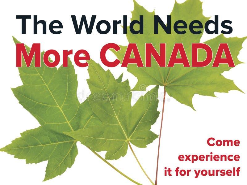 旅游业在加拿大-新鲜感觉和您可能呼吸容易 免版税库存照片