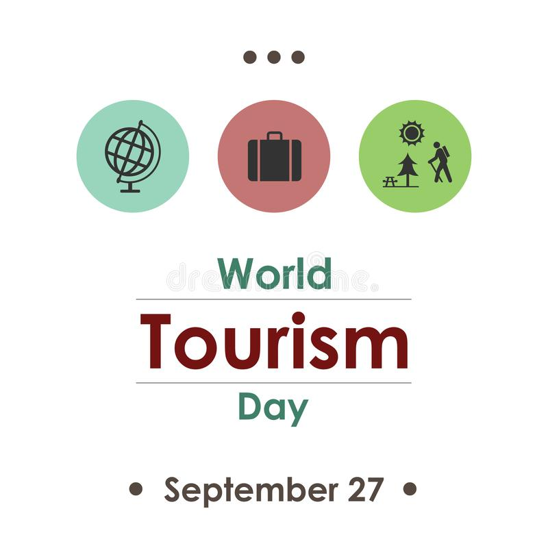 旅游业天9月 向量例证