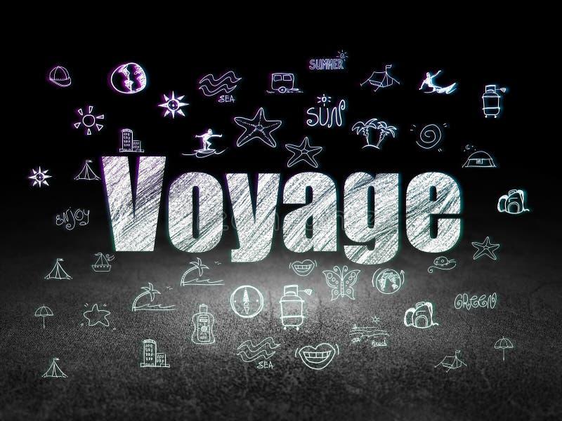 旅游业概念:远航在难看的东西暗室 向量例证